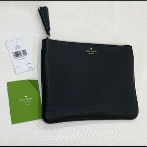Perfect Kate Spade evening Black Gia clutch